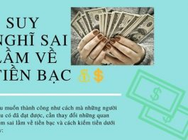 suy nghĩ sai lầm về tiền bạc
