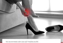 tác hại khi đi giày cao gót