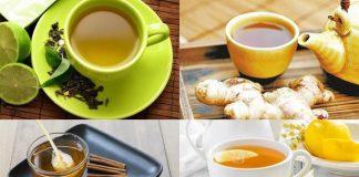 uống trà giảm cân